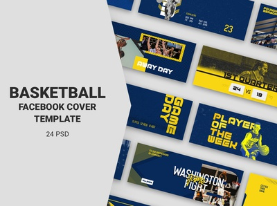 Basketball Facebook Cover Templates