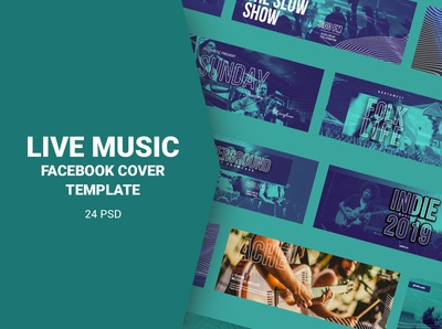 Live Music Facebook Cover Templates