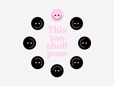 This Too Shall Pass // Concept Illustration concept apparel t-shirt anxiety mental health illustration vector