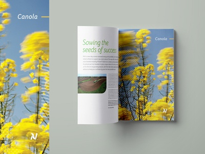 Nutrien Seed Guide multipage layout print agriculture guide