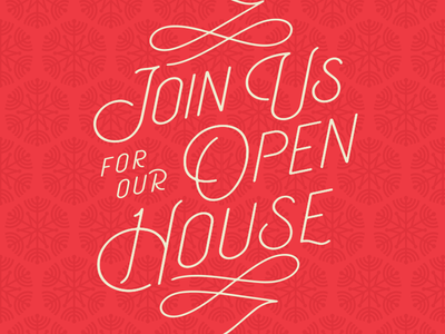 Open House type snowflake cheer christmas invite open house holidays
