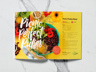 Picnic Perfect Pulses bowl food art direction design double page spread magazine layout