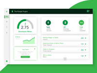 Dashboard UI- Khojak Web App