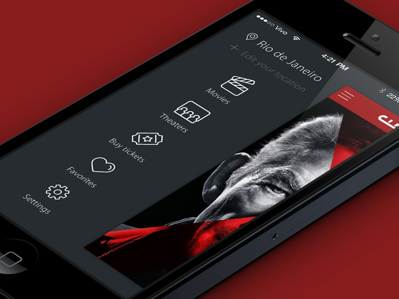 Cinemark Theater Brazil - iOS 7 by Rico Monteiro on Dribbble