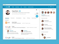 Linkedin for web - Material Design