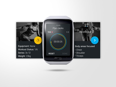 Fitness app for Samsung Galaxy Gear S