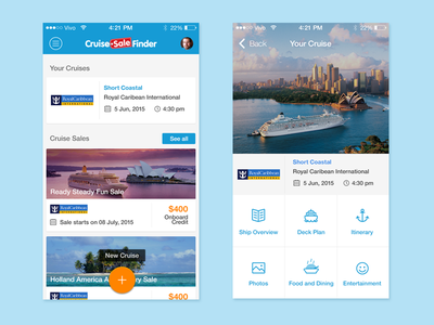 Cruise Countdown by Cruise Sale Finder explore trip travel ios9 iphone dashboard countdown cruise