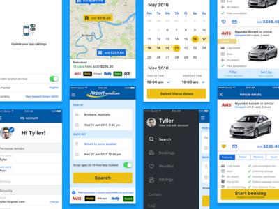 Airport Rentals App