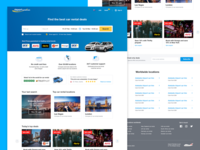 Airport Rentals New Website responsive website search booking car flights airport car rental
