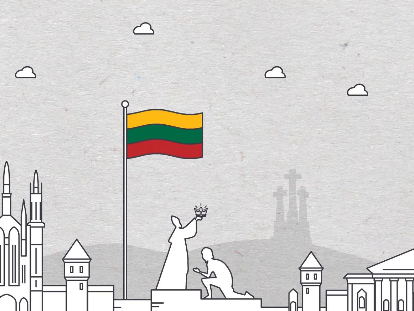 Illustration for Statehood Day in Lithuania flatdesign illustration illustration art illustrator lithuania