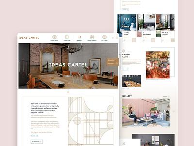 Ideas Cartel UI hotel iinterface website design webflow interface ui