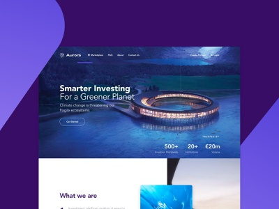Aurora Home Screen logo desktop design interface website ui