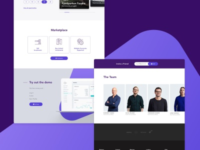 Aurora Website UI web design interface design ui website