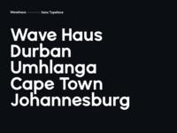 Wavehaus Typeface