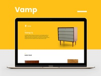 Vamp Website Redesign Concept