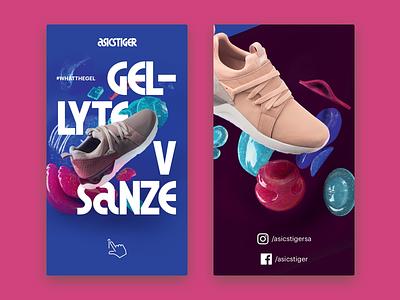 Asics Gel Lyte Mobile mobile sneakers interaction ux ui web design tiger asics