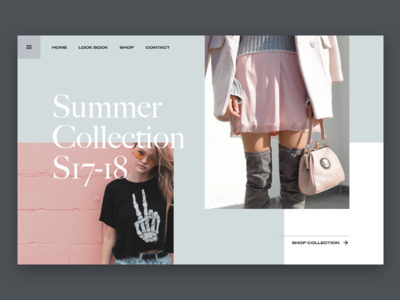 Fashion Store Landing Page ecommerce typography website ux design ui fashion