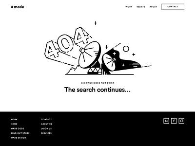 Made 404 Page website illustration ui web design 404