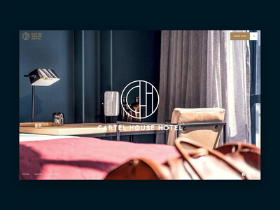 Cartel House Hotel Website webflow interface hotel website design interaction ux ui