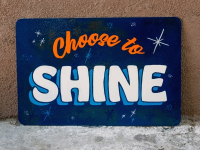 Hand Painted Shine hobeaux lettering handpainted