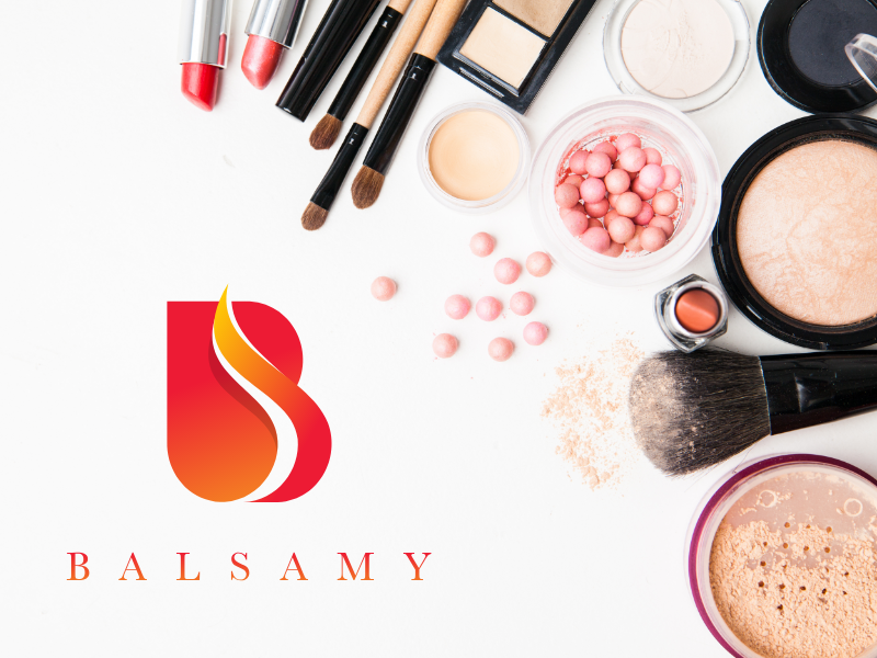 Balsamy   Mockup V1 makeup logo foundation design creative cosmetic brand