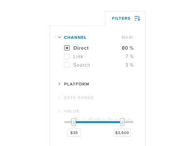 Filter slider ui clean tooltip data visualization filter