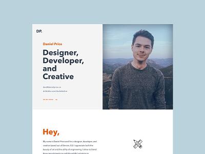 Personal Website Design web typography clean simple portfolio personal site