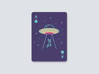 Alien Card Deck- Ace