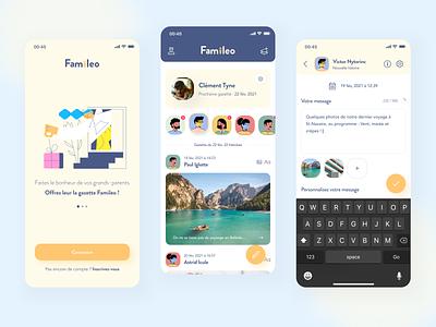 Famileo mobile app - redesign creative design mobile app product uidesign creative  design