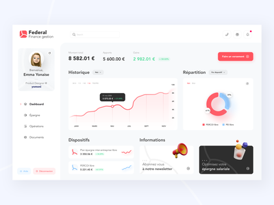 Federal Finance dashboard - redesign light creative  design uidesign creative design finance fintech dashboard federal finance