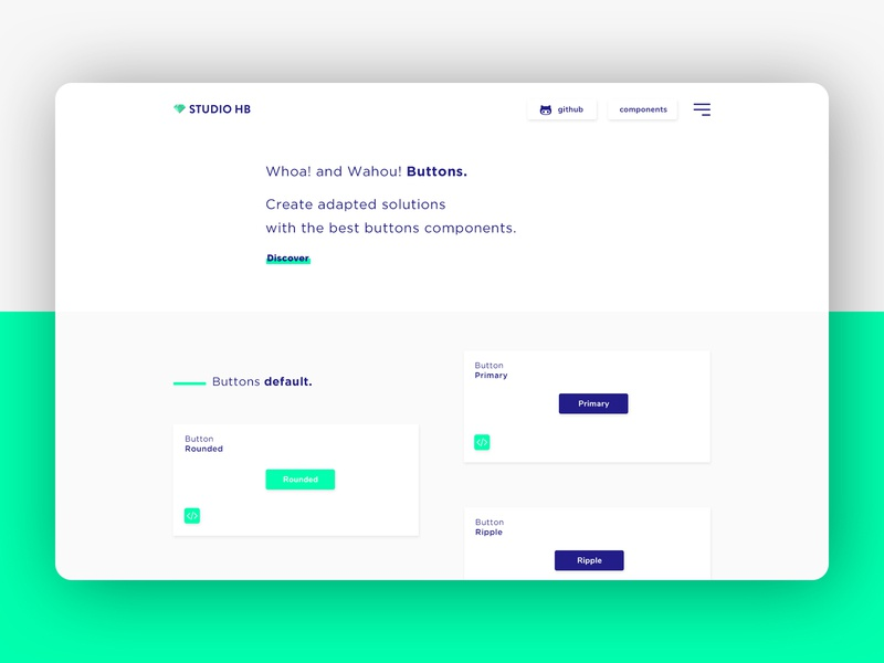 Component library 🔥 ui components landing page hero creative  design button design webdesign ui desgin component library