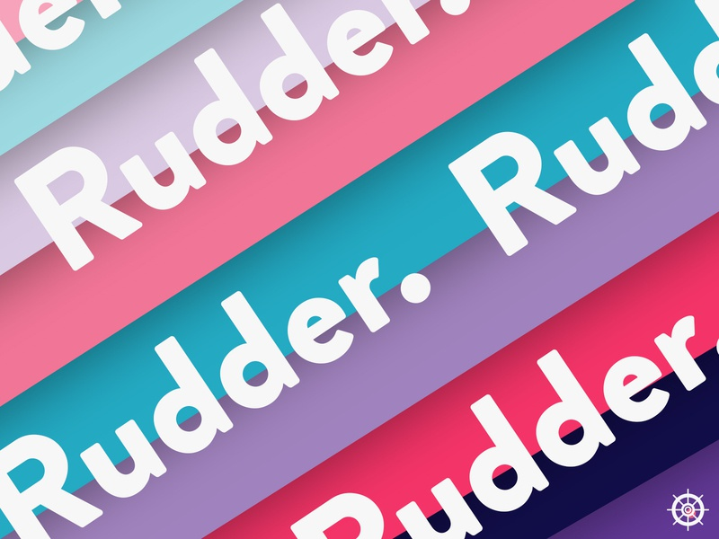 Rudder ⛵ logo design branding travel travel app typogaphy typo logo pictogram colors palette branding logo helm rudder