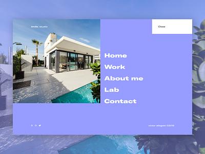 FOLIO __ 006 uidesign portfolio site creative design nav portfolio navigation design menu full width menu menu design navigation émile. studio