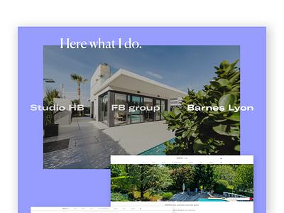 FOLIO __ 007 purple landing page homepage contact page project project showcase portfolio nav creative design portfolio site émile. studio