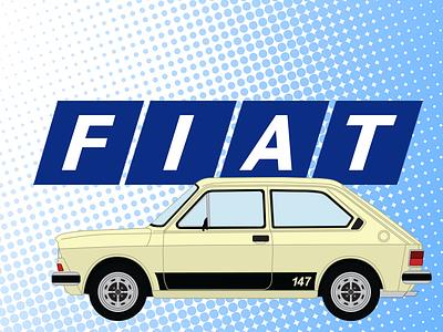 Fiat 147 (1977) fiat 147 brasil vector car