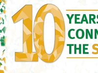 Confetti 10 Year Banner Detail