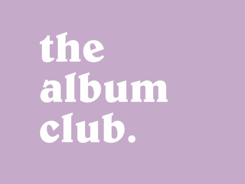 The Album Club on Instagram logo purple cool album retro social media