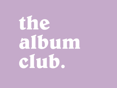The Album Club on Instagram logo purple cool album retro social media