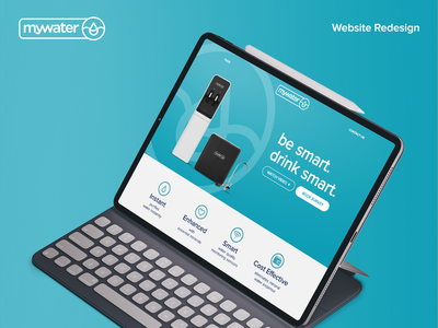 MyWater - Website Redesign icon branding ui design typography water redesign website design website