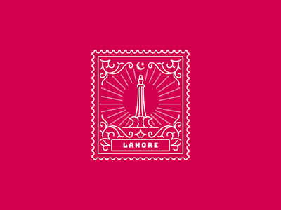 Lahore pakistan lahore illustration stamp