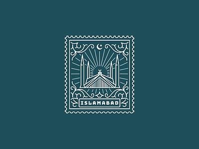 Islamabad pakistan islamabad isloo illustration stamp