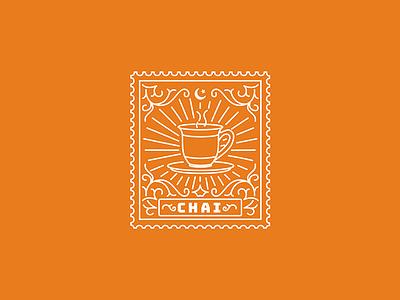 Chai cup tea chai pak pakistan karachi illustration stamp