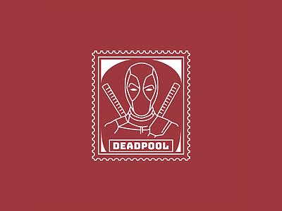 DEADPOOL poster deadpool 2 illustration stamp marvel deadpool
