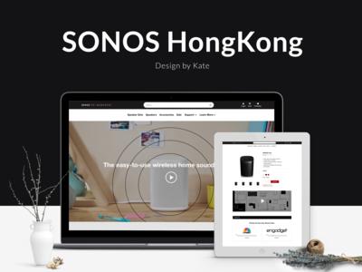 Sonos HongKong website