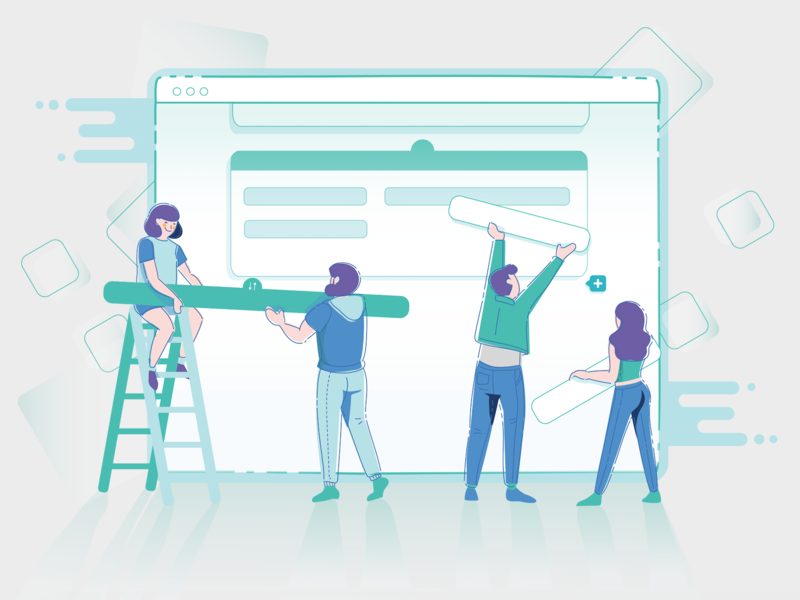 Create a form system start onboarding teams collaboration form build illustration