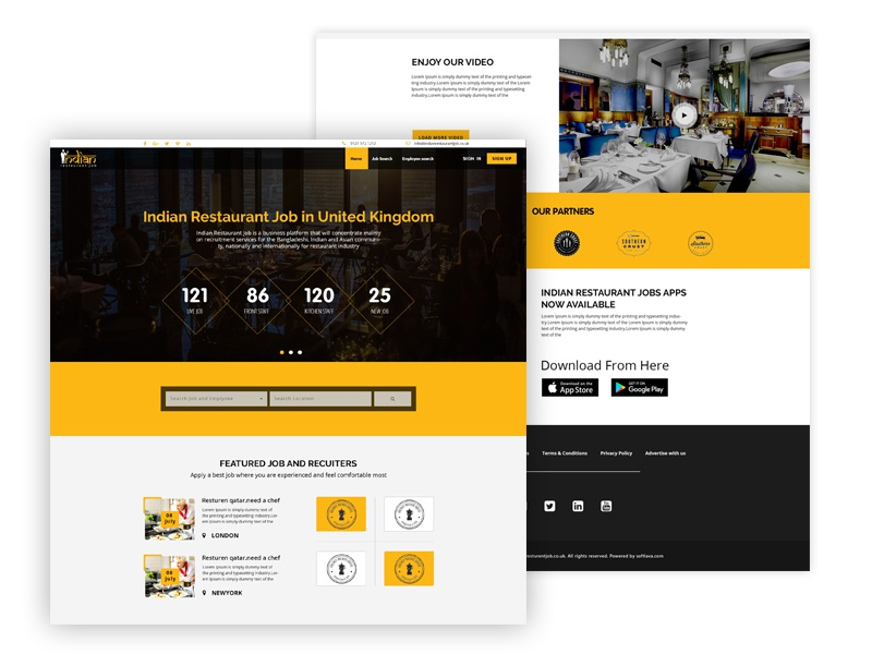 Restaurant Job Website Redesign Concept By Md Alamin Dribbble