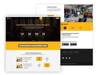 Restaurant Job website Redesign Concept