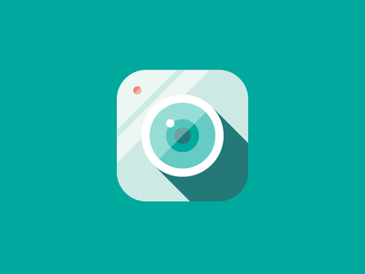 Camera camera flat simple teal ios lense icon minimal obscura app