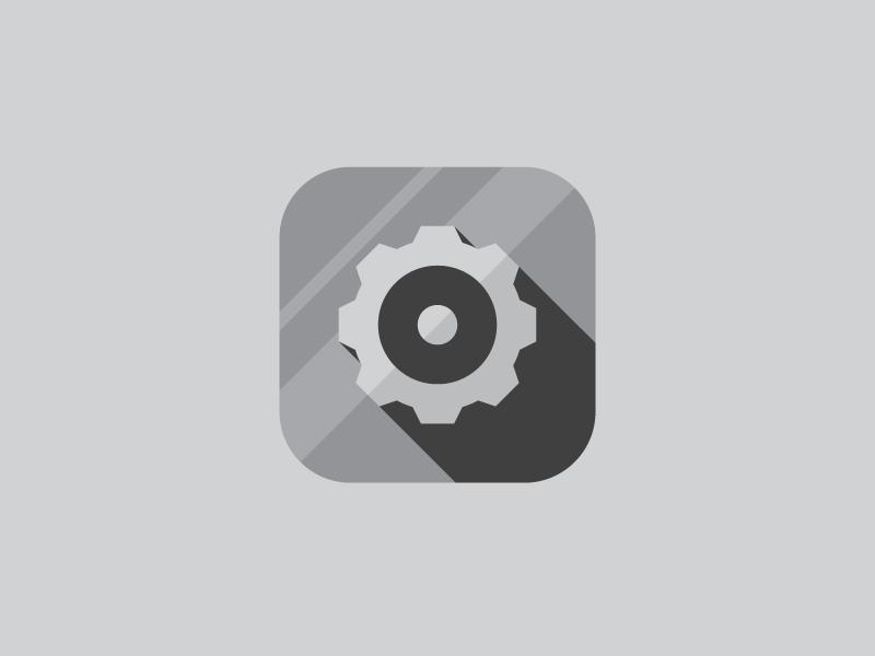 Settings minimal ios settings app flat simple grey cog icon