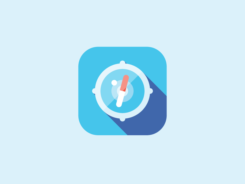 Safari safari icon ios app blue simple flat minimal